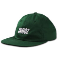 Italics Embroidered Strapback Hat Green