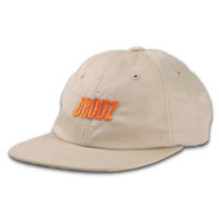 Italics Embroidered Strapback Hat Khakis